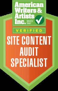 Site Content Audit Specialist Badge