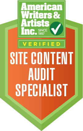 Site Content Audit Specialist Badge