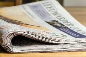 Above the fold newspaper image
